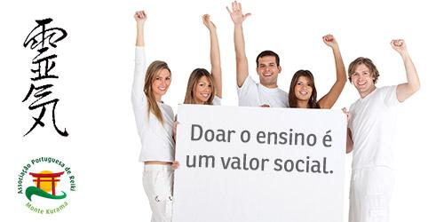 ensino de reiki gratuito um valor social