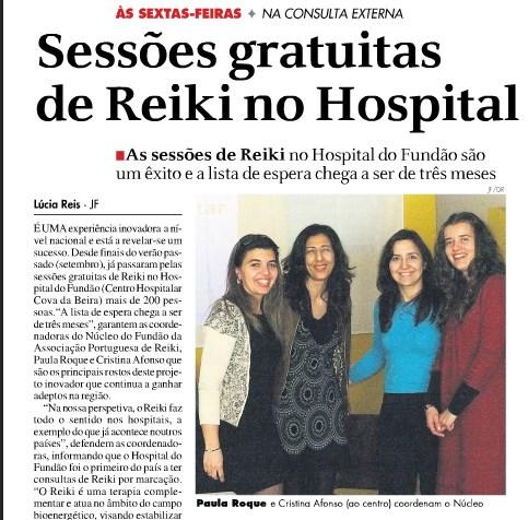 Consultas de Reiki no Hospital do Fundão já chegou a mais de 200 pessoas
