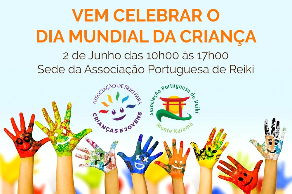 Vem celebrar o Dia Mundial da Criança com muito Reiki, dia 2 de Junho