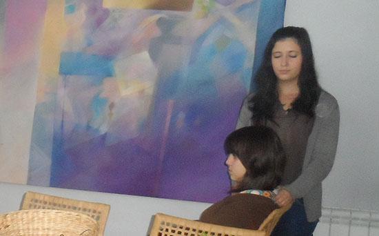 Juventude Positiva Reiki em acção no ASAS