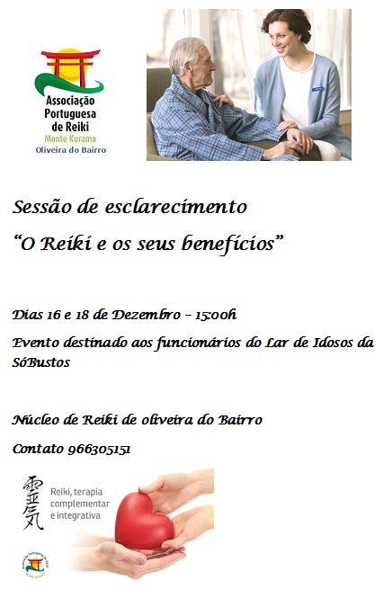 Núcleo de Oliveira do Bairro esclarece sobre benefícios do Reiki