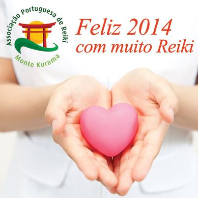 Mensagem de feliz ano novo com muito Reiki