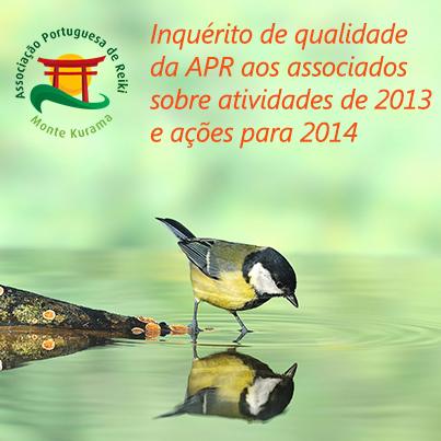 Inquérito de Qualidade APR sobre trabalho de 2013
