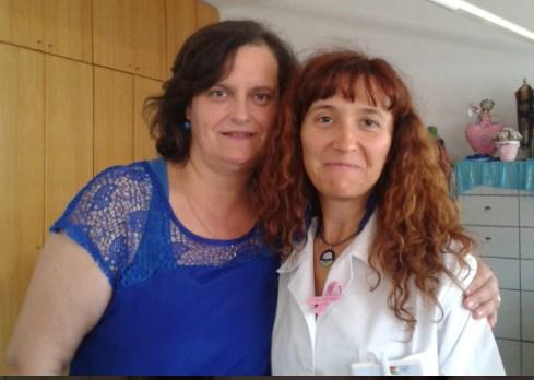 Sofia Vilas Boas (à direita), voluntária e coordenadora do voluntariado na