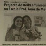 Projecto de Reiki nas escolas sai no Correio do Minho