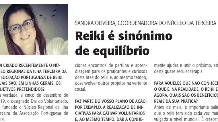 Núcleo de Reiki na Ilha Terceira em notícia no Diário Insular