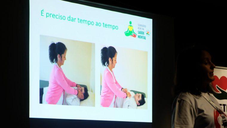 Testemunho da apresentação de Nina Leconte sobre a Cercimont no Seminário Reiki na Saúde Mental